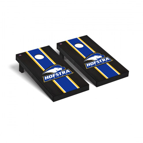 Hofstra Pride Onyx Stained Cornhole Game Set