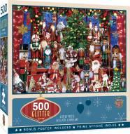 Holiday Festivities 500 Piece Glitter Puzzle