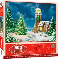 Holiday Gingerbread Light 500 Piece Glitter Puzzle