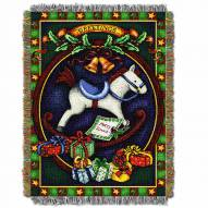 Holiday Hobby Horse Throw Blanket