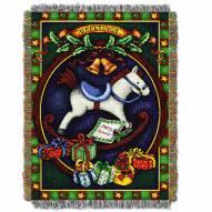 Holiday Hobby Horse Throw Blanket