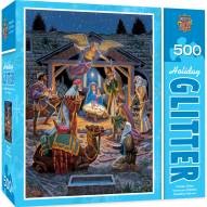 Holiday Holy Night 500 Piece Glitter Puzzle