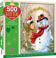 Holiday Letters to Frosty 500 Piece Glitter Puzzle