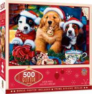 Holiday Santa Paws 500 Piece Glitter Puzzle