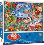 Holiday Snow Globe Dreams 500 Piece Glitter Puzzle