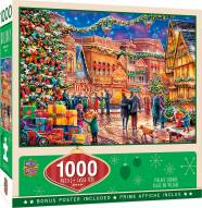 Holiday Village Square 1000 Piece Puzzle