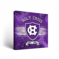 Holy Cross Crusaders Banner Canvas Wall Art