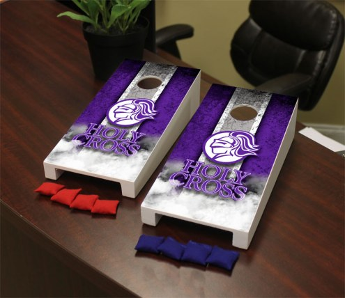 Holy Cross Crusaders Mini Cornhole Set