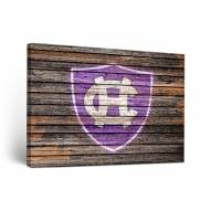 Holy Cross Crusaders Weathered Canvas Wall Art