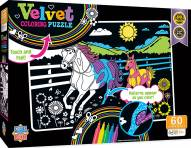 Horse and Pony 60 Piece Velvet Coloring Puzzle