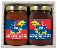 Hot Sauce Harry's Kansas Jayhawks BBQ/Salsa Set