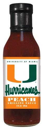 Hot Sauce Harry's Miami Hurricanes Peach Grilling Sauce