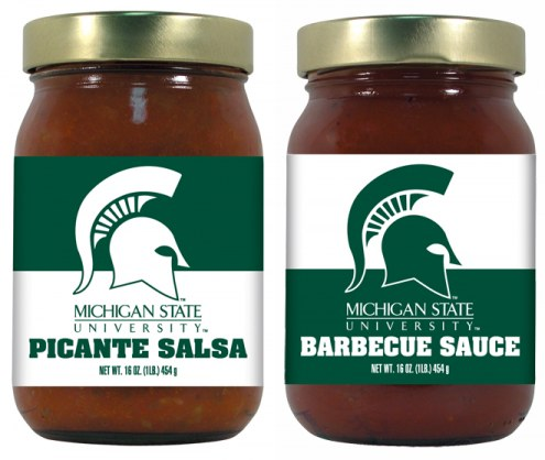 Hot Sauce Harry's Michigan State Spartans BBQ/Salsa Set