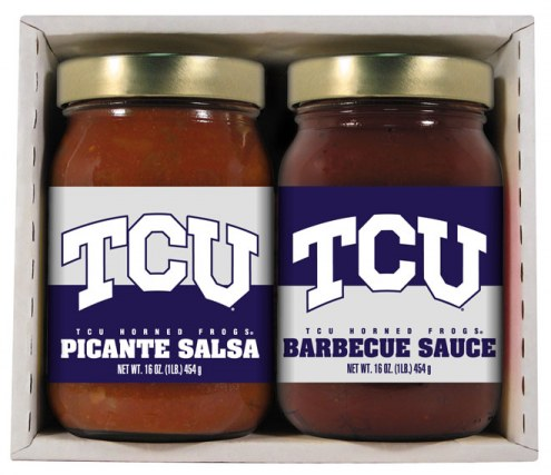 Hot Sauce Harry's Texas Christian Horned Frogs BBQ/Salsa Set