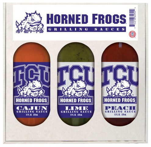 Hot Sauce Harry's Texas Christian Horned Frogs Grilling Sauce Set