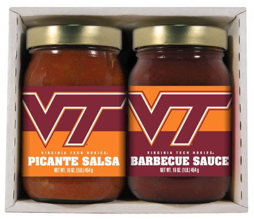 Hot Sauce Harry's Virginia Tech Hokies BBQ/Salsa Set