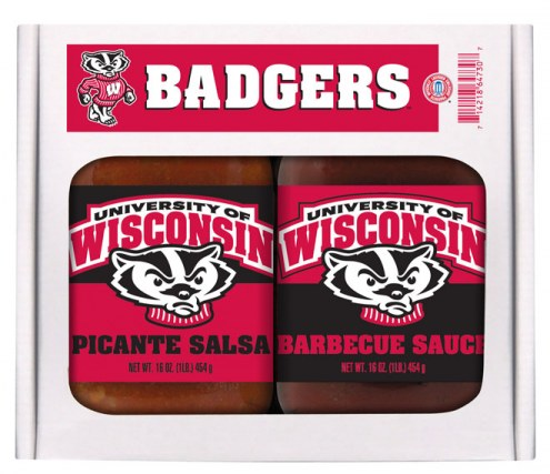 Hot Sauce Harry's Wisconsin Badgers BBQ/Salsa Set
