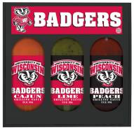 Hot Sauce Harry's Wisconsin Badgers Grilling Sauce Set