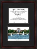 University of Houston Diplomate Framed Lithograph with Diploma Opening