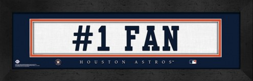 "Houston Astros ""#1 Fan"" Stitched Jersey Framed Print"