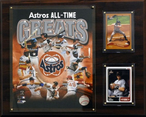 "Houston Astros 12"" x 15"" All-Time Greats Photo Plaque"