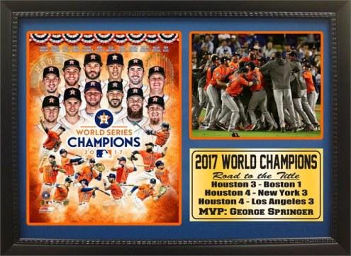 "Houston Astros 12"" x 18"" 2017 World Series Champions Photo Stat Frame"