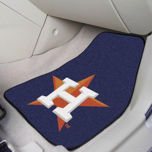 Houston Astros 2-Piece Carpet Car Mats