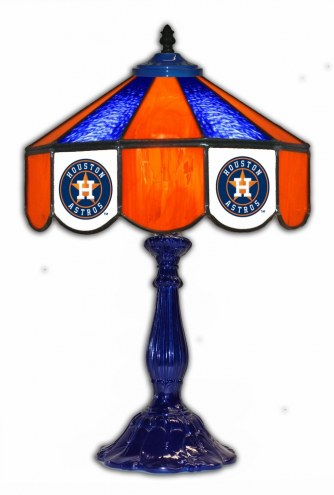 "Houston Astros 21"" Glass Table Lamp"
