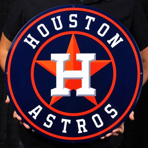 "Houston Astros 24"" Steel Logo Sign"
