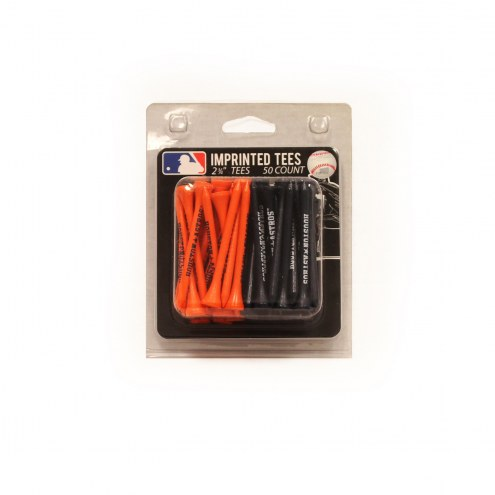 Houston Astros 50 Golf Tee Pack