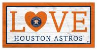 "Houston Astros 6"" x 12"" Love Sign"