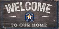"""Houston Astros 6"""" x 12"""" Welcome Sign"""