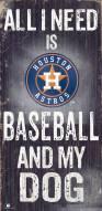 Houston Astros Baseball & My Dog Sign