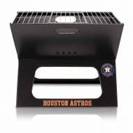 Houston Astros Black Portable Charcoal X-Grill