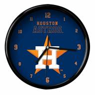Houston Astros Black Rim Clock