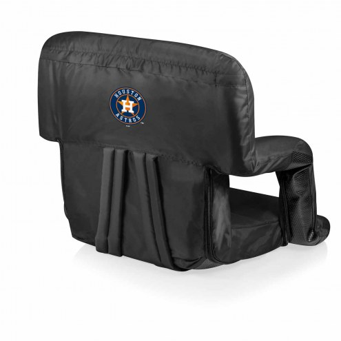 Houston Astros Black Ventura Portable Outdoor Recliner