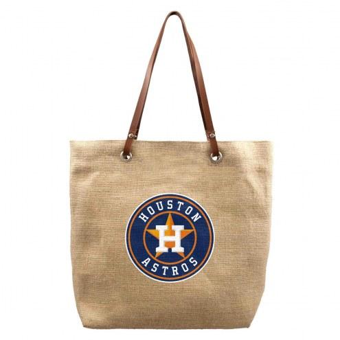 Houston Astros Burlap Market Tote