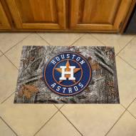 Houston Astros Camo Scraper Door Mat