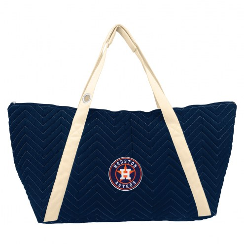Houston Astros Chevron Stitch Weekender Bag