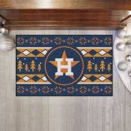 Houston Astros Christmas Sweater Starter Rug