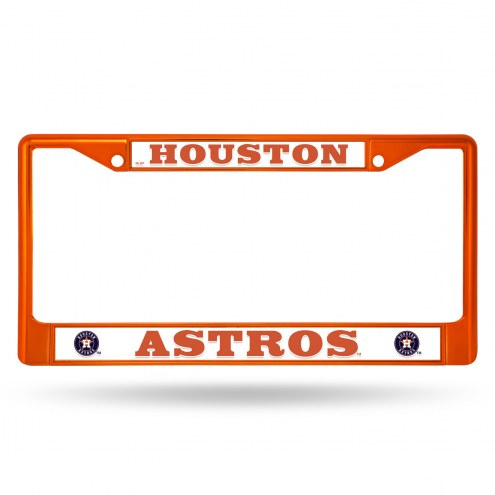 Houston Astros Colored Chrome License Plate Frame