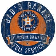 Houston Astros Dad's Garage Sign