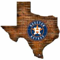 Houston Astros Distressed State with Logo Sign