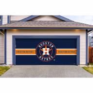 Houston Astros Double Garage Door Cover