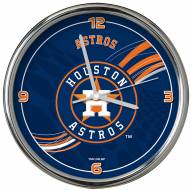 Houston Astros Dynamic Chrome Clock