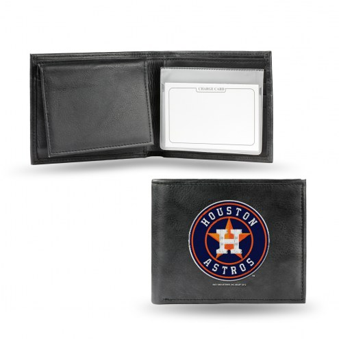 Houston Astros Embroidered Leather Billfold Wallet