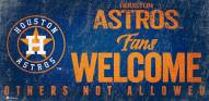 Houston Astros Fans Welcome Sign