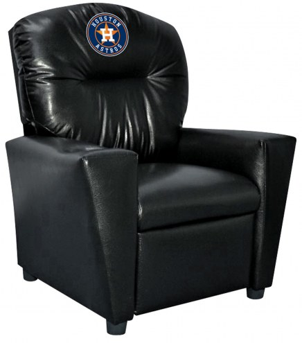 Houston Astros Faux Leather Kid's Recliner