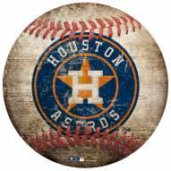 Houston Astros Baseball Shaped Sign
