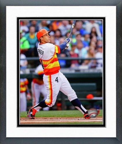 Houston Astros George Springer Action Framed Photo